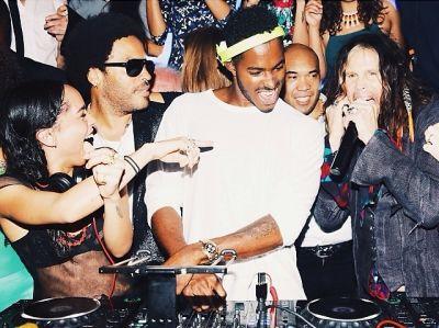 Zoe Kravitz, Lenny Kravitz, DJ Ruckus, Steven Tyler