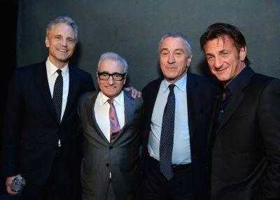 John Sykes, Martin Scorsese, Robert De Niro, Sean Penn
