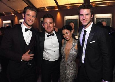 Chris Hemsworth, Channing Tatum, Jenna Dewan, Liam Hemsworth