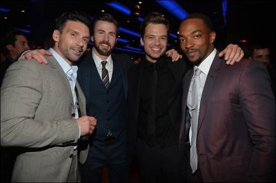 Frank Grillo, Chris Evans, Sebastian Stan, Anthony Mackie