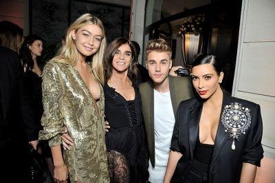 Gigi Hadid, Carine Roitfeld, Justin Bieber, Kim Kardashian