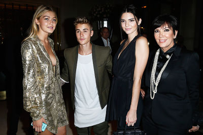 Gigi Hadid, Justin Bieber, Kendall Jenner, Kris Jenner