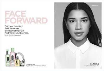 Clinique #FaceForward campaign w Hannah Bronfman