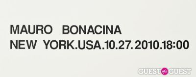 Mauro Bonacina exhibition opening reception