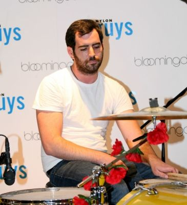 dj am in NYLON GUYS Spring In-Store Event