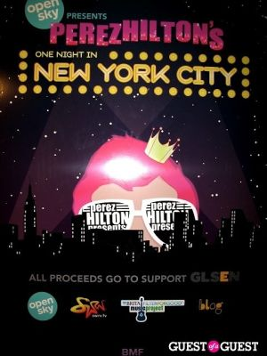 Perez Hilton's One Night in NYC /Open Sky Project
