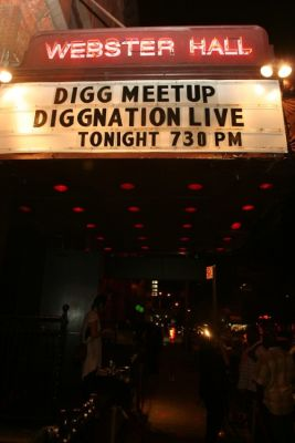 tina fey in Live DIGGNation and DIGG Meetup