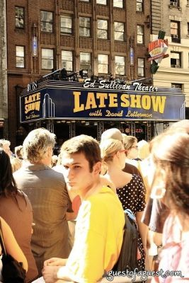 Paul McCartney on the Late Show Marquee