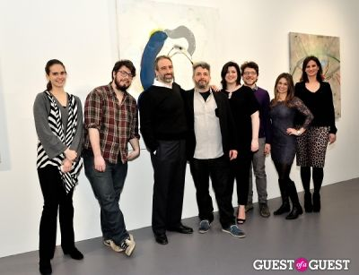 elizabeth hirsch in Port and Out of Context Exhibition Opening