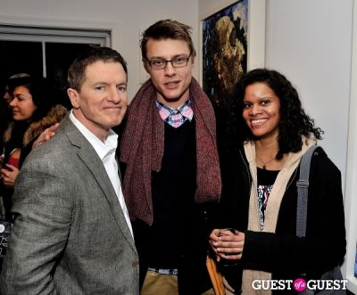 perez hilton in Anthony Fisher Recent Works opening at Galerie Mourlot