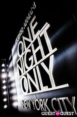 Giorgio Armani One Night Only NYC event.