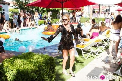 mia moretti in Coachella: GUESS HOTEL Pool Party at the Viceroy, Day 2