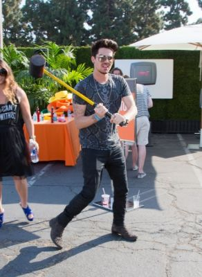 adam lambert in Just Jared's Summer Kick-Off Party Presented By McDonald's