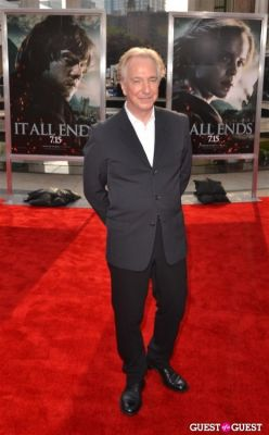 alan rickman in Harry Potter And The Deathly Hallows Part 2 New York Premiere