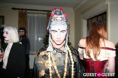albie hueston in Lovecat Magazine Halloween Dinner Hosted by Jessica White and Byrdie Bell