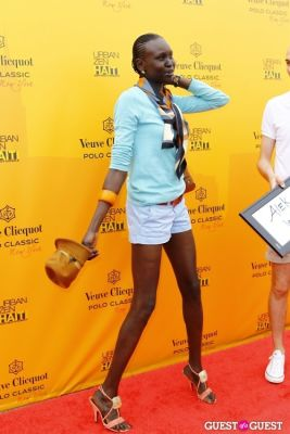 alek wek in Veuve Clicquot Polo Classic at New York
