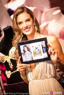 alessandra ambrosio in Victoria's Secret Angel Alessandra Ambrosio Reveals the Floral Fantasy Bra by Lodon Jewelers