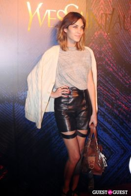 alexa chung in Yves Saint Laurent Fragrance Launch