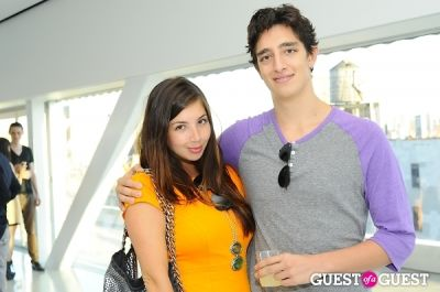 alexandra voyatzakis-and-alec-gagliotti in The HINGE App New York Launch Party