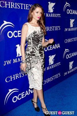 almudena fernandez in Oceana's Inaugural Ball at Christie's