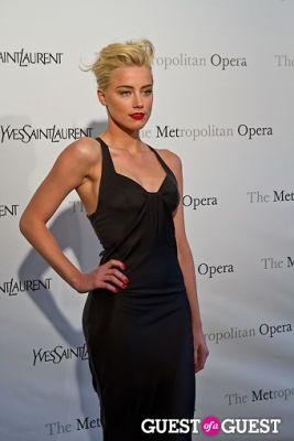 amber heard in Yves Saint Laurent Sponsors The Metropolitan Premiere of Jules Massenet's Manon