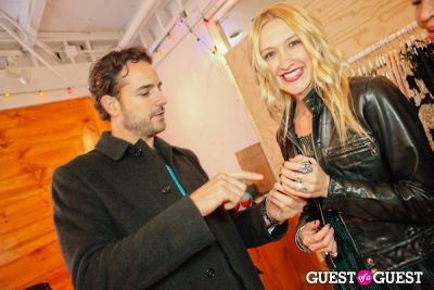 courtney tuttle in Kin Los Angeles + AGAIN Holiday Party