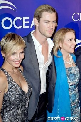 elsa pataky in Oceana's Inaugural Ball at Christie's