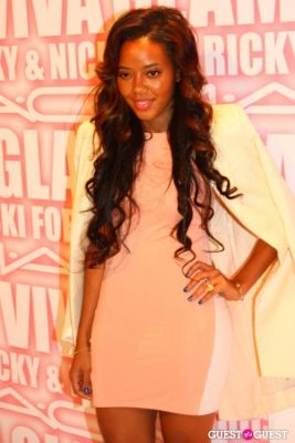 angela simmons in MAC Viva Glam Launch with Nicki Minaj and Ricky Martin