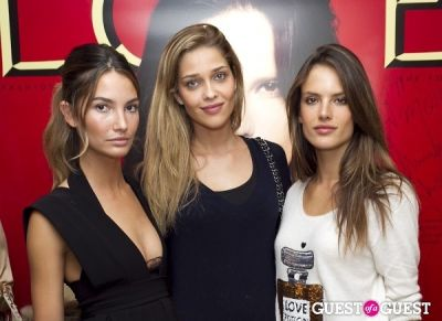 alessandra ambrosio in Longchamp/LOVE Magazine event