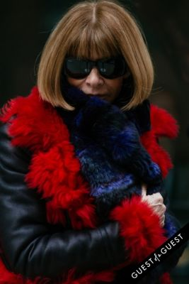 anna wintour in NYFW Street Style Day 5