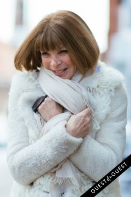 anna wintour in NYFW Street Style Day 6