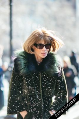 anna wintour in NYFW Street Style Day 7