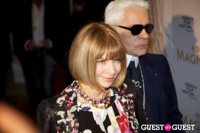 anna wintour in Tribeca Film Festival - Karl Lagerfeld & Rachel Bilson