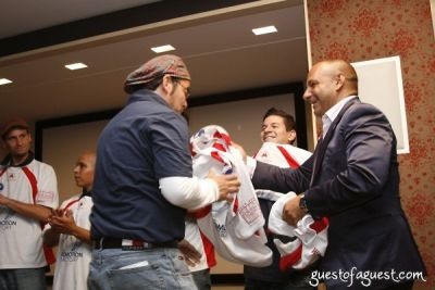 jorge revolorio in USA Homeless Soccer Team Jersey Presentation at Cipriani Wall Street