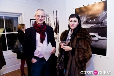 anya mccomsey in Galerie Mourlot Livia Coullias-Blanc Opening