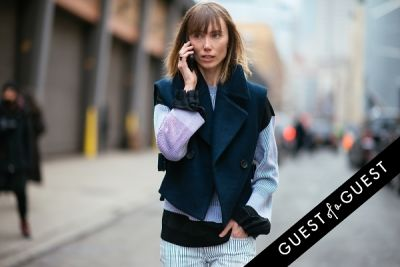 anya ziourova in NYFW Street Style Day 8