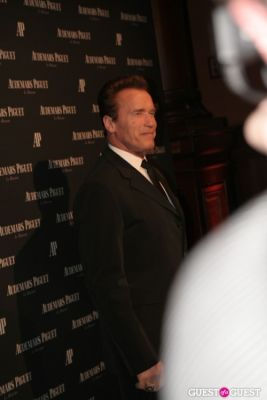 arnold schwarzenegger in Audemars Piguet Royal Oak 40 Years New York City Exhibition Gala