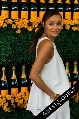 ashley madekwe in The Sixth Annual Veuve Clicquot Polo Classic Red Carpet