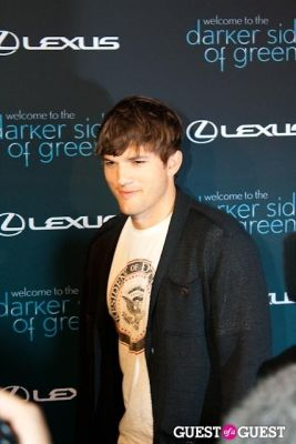 "ashton kutcher in Lexus ""Darker Side of Green"" Debates"