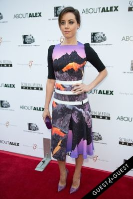 aubrey plaza in Los Angeles Premiere of ABOUT ALEX