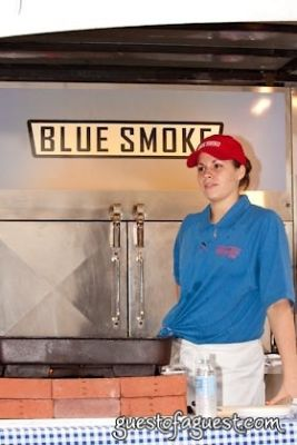 blue smoke in Snapple Big Apple Barbecue Block Party