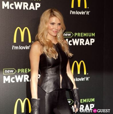 brandi glanville in McDonald's Premium McWrap Launch With John Martin and Tyga Performance