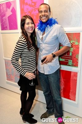 brandon weaver in Warhol Halloween Party at Christies