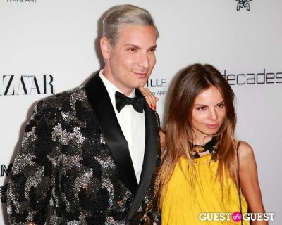 "cameron silver in Harper's Bazaar to Celebrate Cameron Silver & Christos Garkinos of Decades and Bravo's ""Dukes of Melrose"""