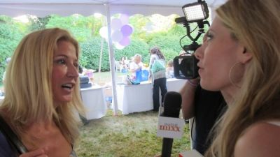 candace bushnell in East Hampton Author's Night