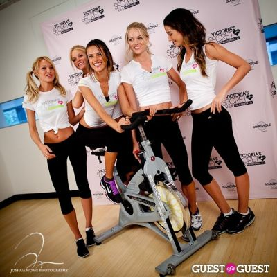 candice swanepoel in Victoria's Secret Angels Gear Up For a Supermodel Ride Soulcycle to Benefit Pelotonia