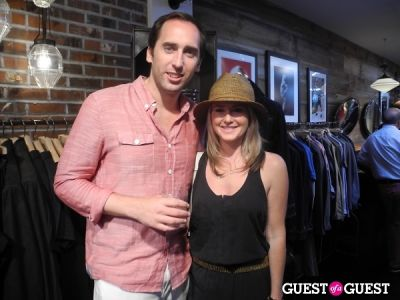 caroline reuschel in John Varvatos and BEACH magazine summer kick off party