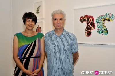 david byrne in Inglorious Materials exhibition opening at Charles Bank Gallery
