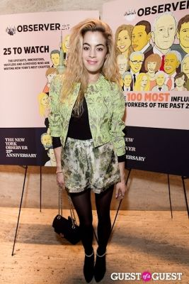 chelsea leyland in The New York Observer 25th Anniversary