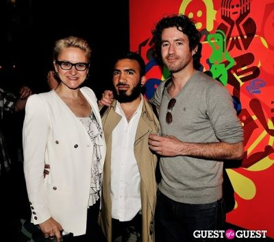 jorge baron-munoz in Ryan McGinness - Women: Blacklight Paintings and Sculptures Exhibition Opening